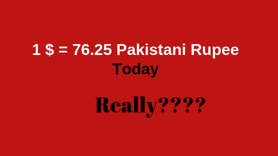 1 $ Into PKR-15th Jan 2019, Is It The Lowest Rate, Really?