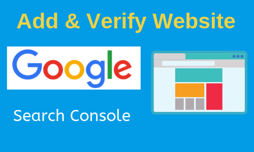 Add website in Google Search Console verify website in different ways